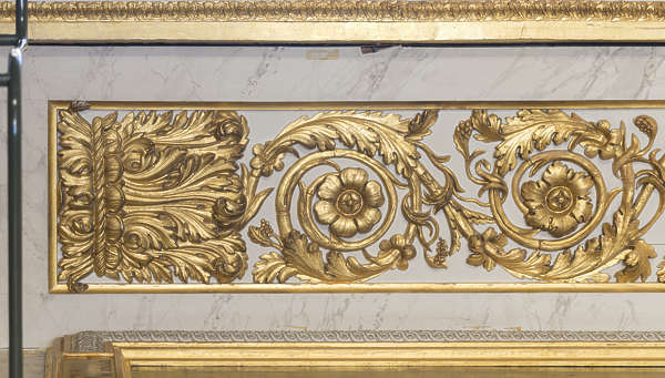 gold gilded panel ornate ornament
