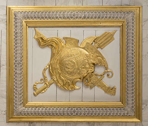 ornate ornament gold gilded panel