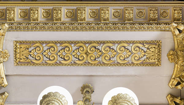 ornate ornament gold gilded panel trim