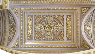 ceiling panel ornate ornament gold gilded