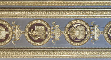 gold gilded panel ornate ornament trim border