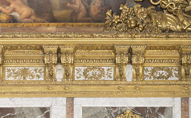 trim border cornice ornate ornament gold gilded