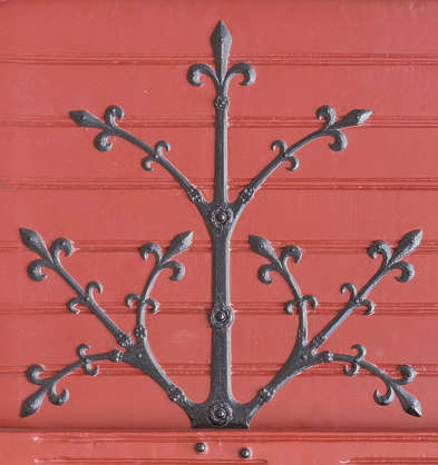 hinge ornament medieval old ornate metal iron wrought
