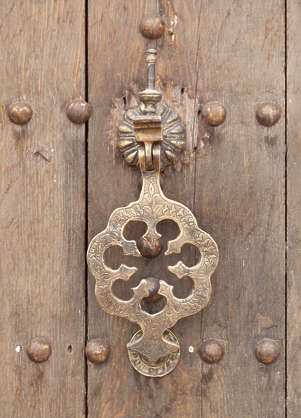 morocco ornament knocker door metal