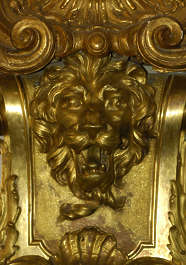 ornament gold gilded Versailles lion