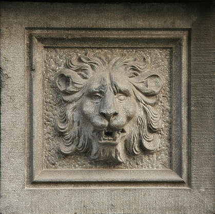 ornament lion relief panel