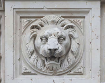 ornate ornament lion relief sculpture