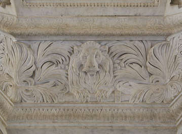 ornate ornament relief lion