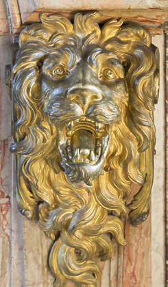 ornate ornament lion gold gilded