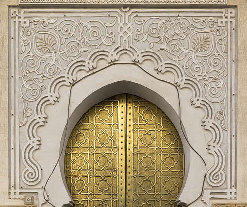 ornament metal moorish morocco arch stucco