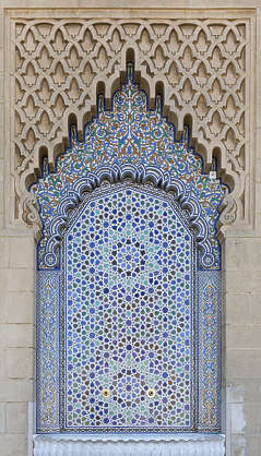 morocco arabic moorish ornate arch stucco zelige tiles