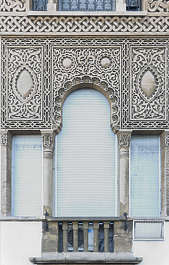 morocco arabic moorish ornate arch archway stucco