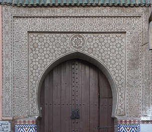 morocco arabic moorish ornate ornament stucco arch door archway
