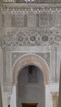 morocco location:medersa-marrrakesh moorish ornate ornament stucco arch