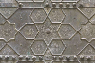 ornament metal moorish morocco brass old
