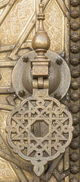 ornament metal moorish morocco brass knocker