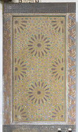 morocco door painted wood mural pattern