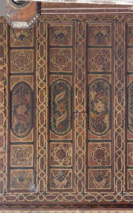 morocco ceiling ornate wood ornament painted