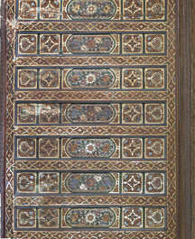 morocco ceiling ornate wood painted