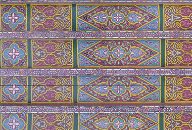 morocco africa moorish islamic arabic arabian wood ornate ornament painted panel