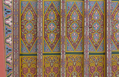 morocco africa moorish islamic arabic arabian wood ornate ornament painted