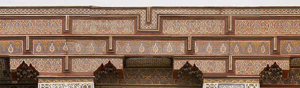 morocco africa moorish islamic arabic arabian wood ornate ornament painted trim cornice