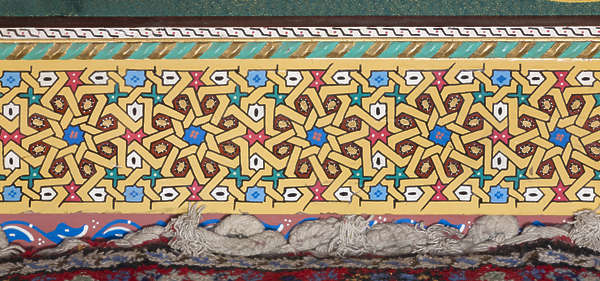 ornament moorish morocco wood border trim arabic