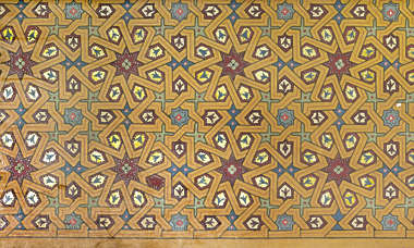 ornament moorish morocco ceiling wood painted arabic pattern