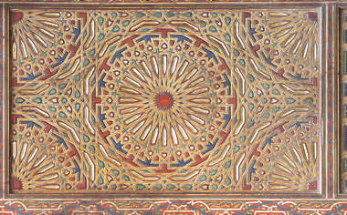 ornament moorish morocco wood painted arabic