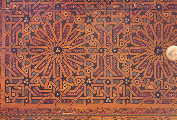 ornament moorish morocco ceiling wood painted arabic