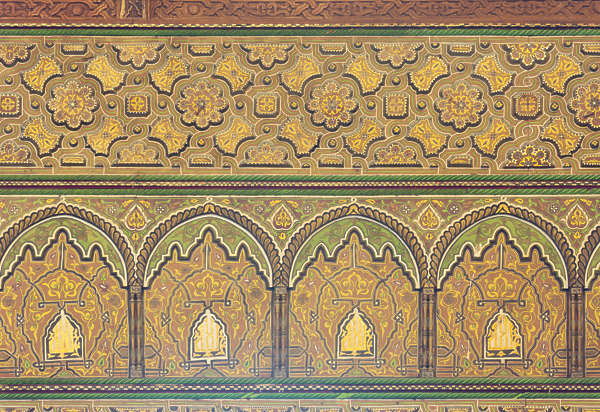 morocco moorish ornament ornate border wood