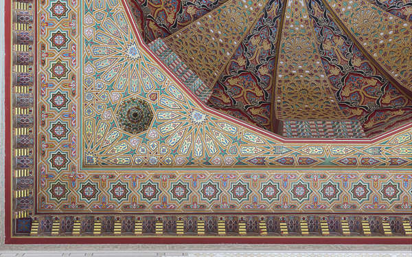 morocco moorish ornament ornate ceiling dome painted