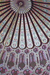 morocco moorish ornament ornate wood painted ceiling dome