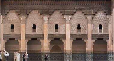 morocco arabic moorish ornate ornament stucco arch palace facade