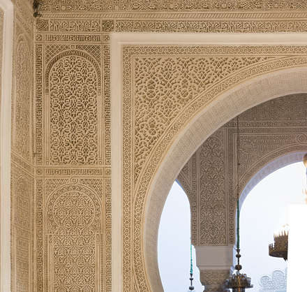morocco stucco ornament ornate moorish location:medersa-meknes