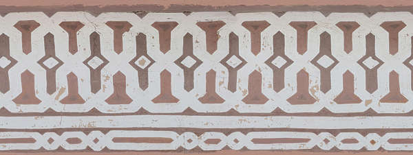 ornament moorish mural border trim old worn morocco