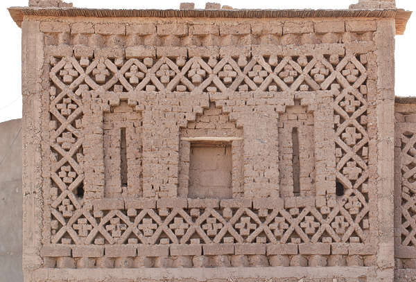 wall old ornate morocco building facade old medieval loam
