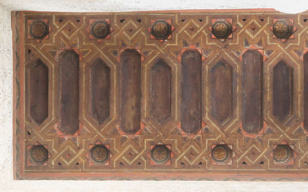 morocco ceiling ornate wood pattern moorish
