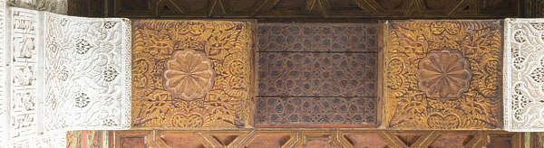 morocco ceiling ornate wood ornament