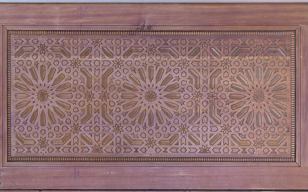 morocco door ornate wood ornament pattern