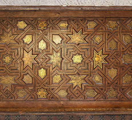 moorish ornament islamic palace arab arabian arabic ceiling wood gold gilded