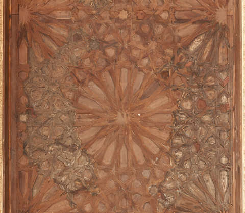 moorish ornament islamic palace arab arabian arabic ceiling wood