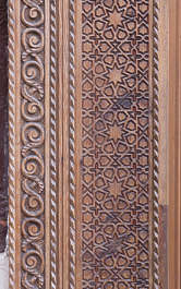 morocco ornament wooden carvings carving wood trim moorish islamic palace arab arabian arabic trim