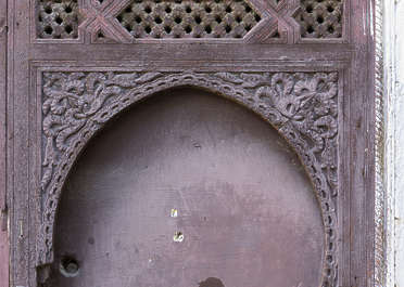 morocco wood carving arch old