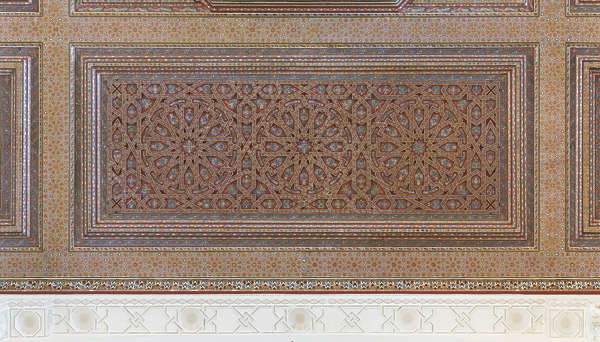morocco moorish wood carving carved ornate ornament moorish ceiling painted