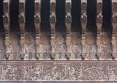 morocco moorish border wood ornate carved carving wood location:medersa-meknes