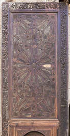 morocco location:medersa-bounana moorish wood panel ornament ornate