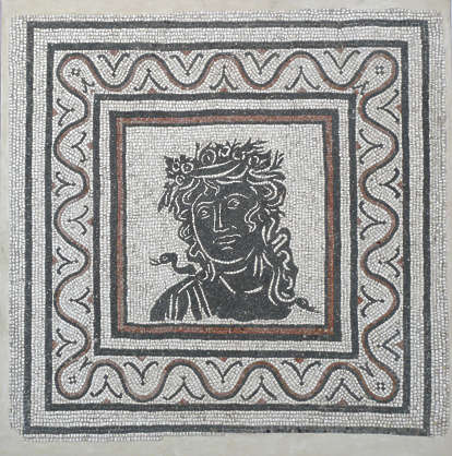 ornament greek mosaic tiles