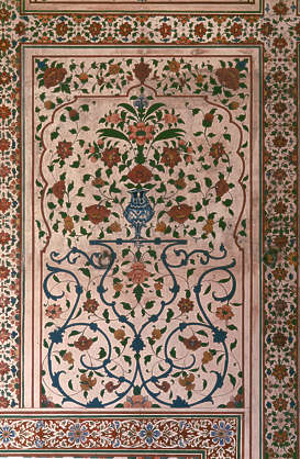 india ornament vase flowers india painting ornament illustration