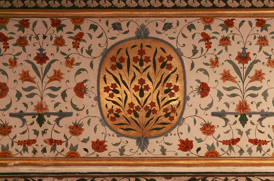 Murals0019 free background texture india ornament for Mural on indian red ground